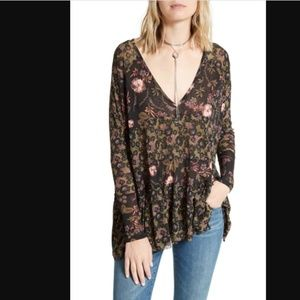 Free People Isabelle Synthetic Floral Tunic Top